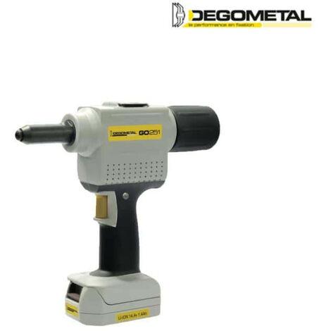 DEGOMETAL electro-portable riveting machine - 1 battery 14,4V Li-ion 2,8Ah GO254L1