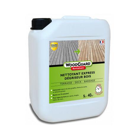Dégriseur et nettoyant bois - WoodGuard Revitalisant - 5L - traite 40m²