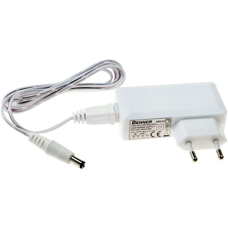 LED 24V12W-MM-W2E Trasformatore per LED Tensione costante 12 W 0.5 A 24 V/DC adatto per mobili - Dehner Elektronik
