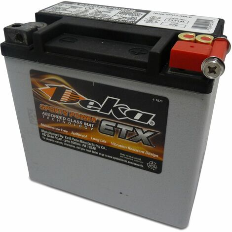 DEKA Batterie Moto 12V – 12Ah - ETX14L