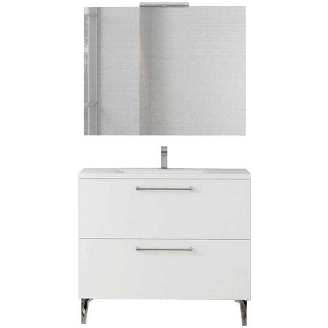 DEKO Conjunto mueble de baño Blanco 100 cm