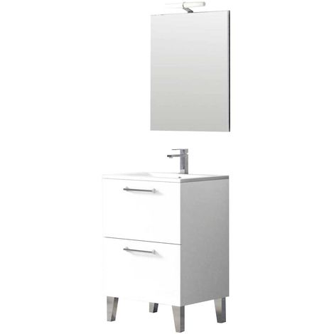 DEKO Conjunto mueble de baño Blanco 60 cm