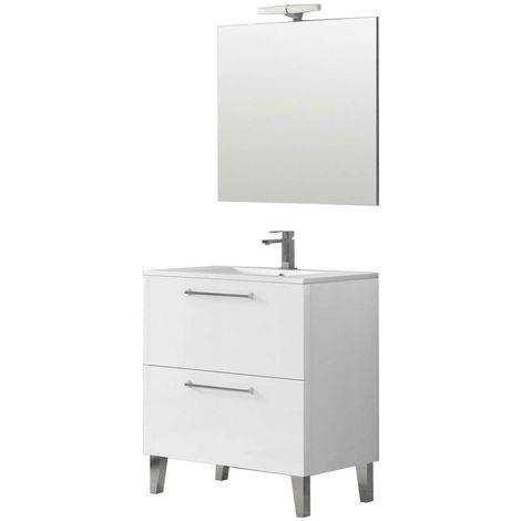DEKO Conjunto mueble de baño Blanco 80 cm