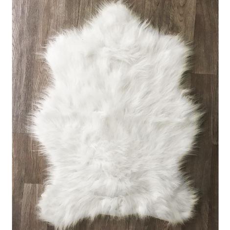 Deko-Fell Weiß B60xL90cm-M773391