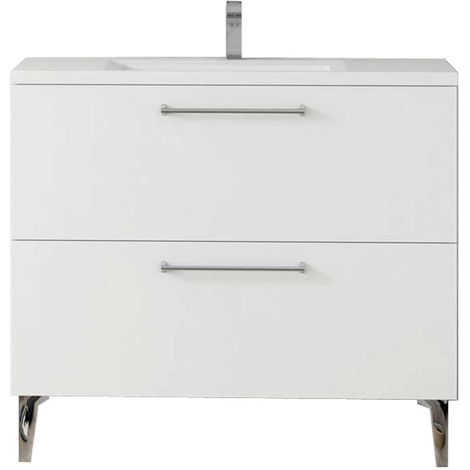 DEKO Mueble de baño Blanco 100 cm
