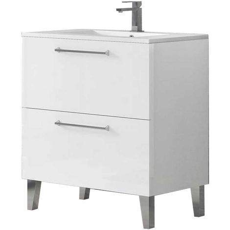 DEKO Mueble de baño Blanco 80 cm