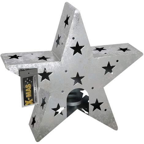 Deko Stern Größe L Dekostern zum Aufstellen Rostbraun