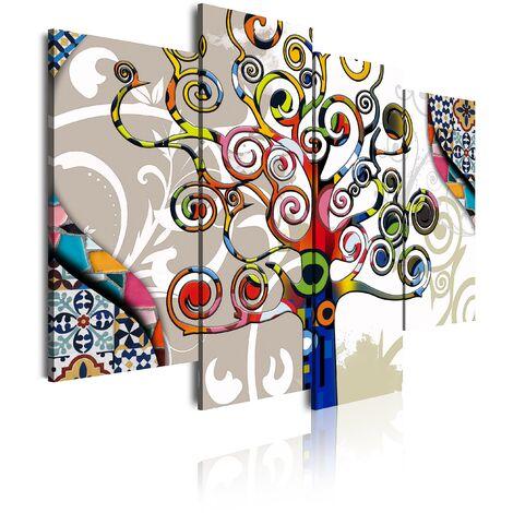 DekoArte - Cuadros Modernos Impresión de Imagen Artística Digitalizada   Lienzo Decorativo Para Tu Salón o Dormitorio   Estilo Abstracto Árbol de la Vida Gustav Klimt
