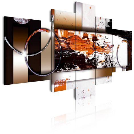 DekoArte - Cuadros Modernos Impresión de Imagen Artística Digitalizada | Lienzo Decorativo Para Tu Salón o Dormitorio | Estilo Abstracto Moderno