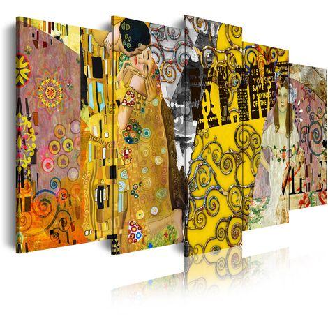 DekoArte - Cuadros Modernos Impresión de Imagen Artística Digitalizada | Lienzo Decorativo Para Tu Salón o Dormitorio | Estilo Abstractos Arte Klimt