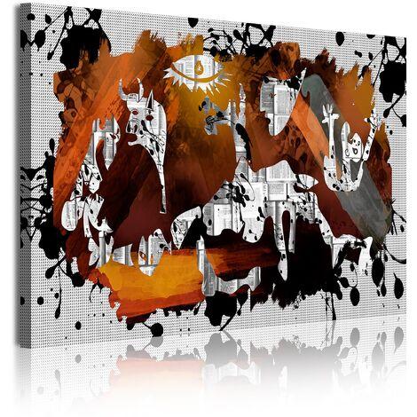 DekoArte  - Cuadros Modernos Impresión de Imagen Artística Digitalizada   Lienzo Decorativo Para Tu Salón o Dormitorio   Estilo Abstractos Arte Picasso Guernica