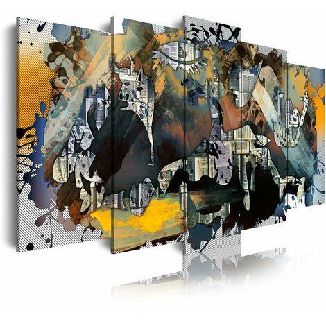 DekoArte  - Cuadros Modernos Impresión de Imagen Artística Digitalizada | Lienzo Decorativo Para Tu Salón o Dormitorio | Estilo Abstractos Arte Picasso Guernica