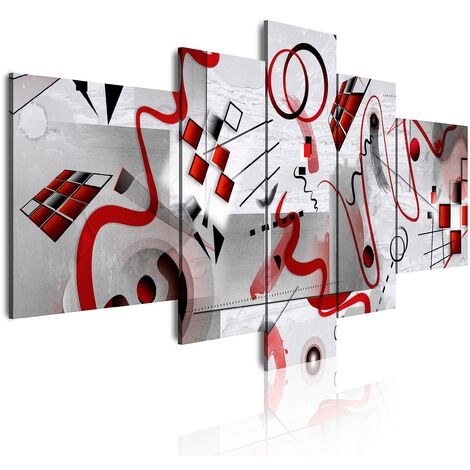DekoArte - Cuadros Modernos Impresión de Imagen Artística Digitalizada | Lienzo Decorativo Para Tu Salón o Dormitorio | Estilo Abstractos Moderno Arte Kandinsky