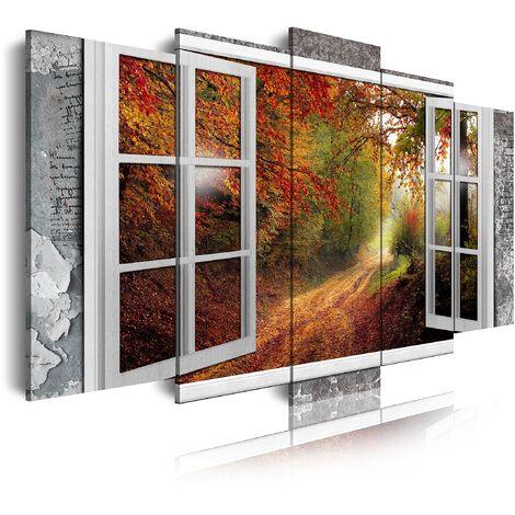 DekoArte - Cuadros Modernos Impresión de Imagen Artística Digitalizada   Lienzo Decorativo Para Tu Salón o Dormitorio   Estilo Paisajes Vistas Ventana