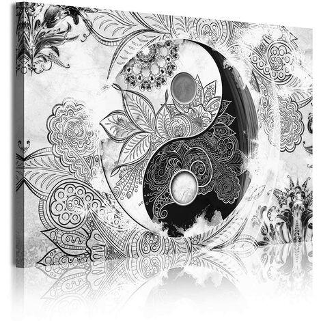 DekoArte - Cuadros Modernos Impresión de Imagen Artística Digitalizada   Lienzo Decorativo Para Tu Salón o Dormitorio   Estilo Ying Yang Abstractos Zen