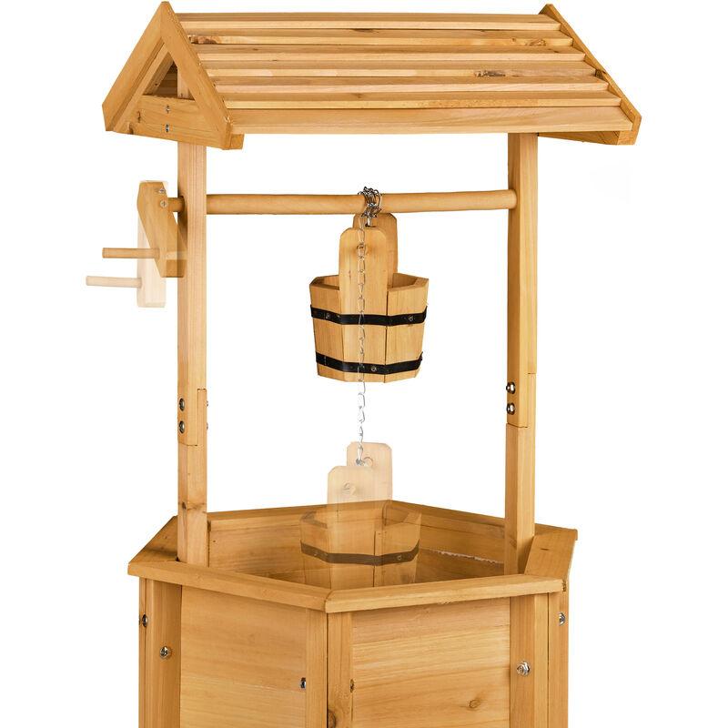 Dekobrunnen Garten Holz Rolle Eimer Hxbxt 82 X 47 X 41 Cm
