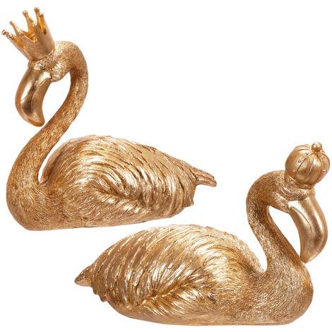 Dekofiguren Für Haus Und Garten Flamingos Mit Krone H2023cm