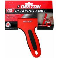 Dekton 200mm Stainless Steel Taping Knife Spatula Filling Drywall Plastering