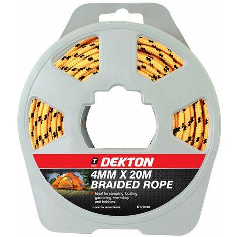 "main image of ""Dekton DT70630 4mm X 20m Polypropylene Braided Rope"""