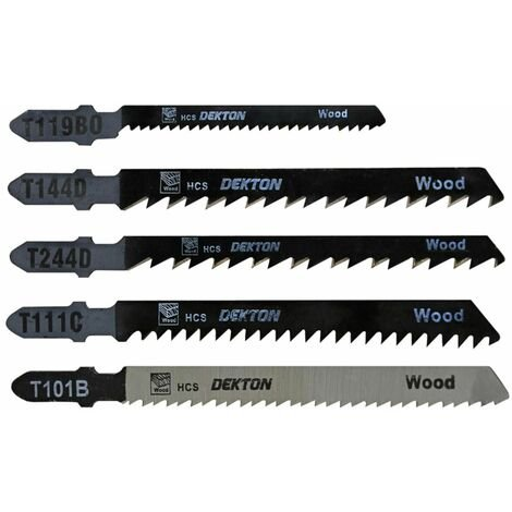 DEKTON DT80910 Jigsaw Blade T Type Set 5pc