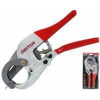 Dekton Vinyl Waste Plastic Pipe Cutter Ratchet Plumbers Tool Capacity 42mm
