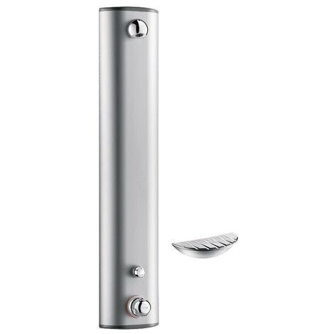 Delabie - Panneau de douche SECURITHERM thermostatique temporisé ~30 sec Alu + porte savon