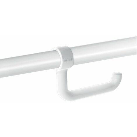 Delabie - Toilettenpapierrollenhalter für Haltegriff Ø 32 bis 34mm weiß -