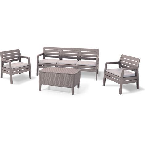 Delano - Garden Furniture Set - 5 Seats - Cappuccinno