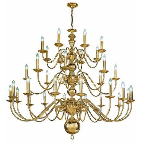 Delft polished brass pendant light 32 Bulbs