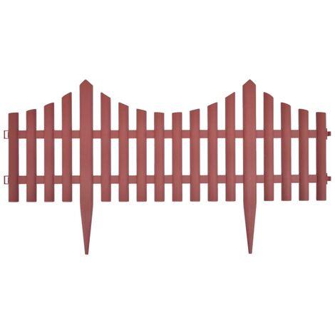 Delimitador de borde de jardín 17 piezas 10 m marrón