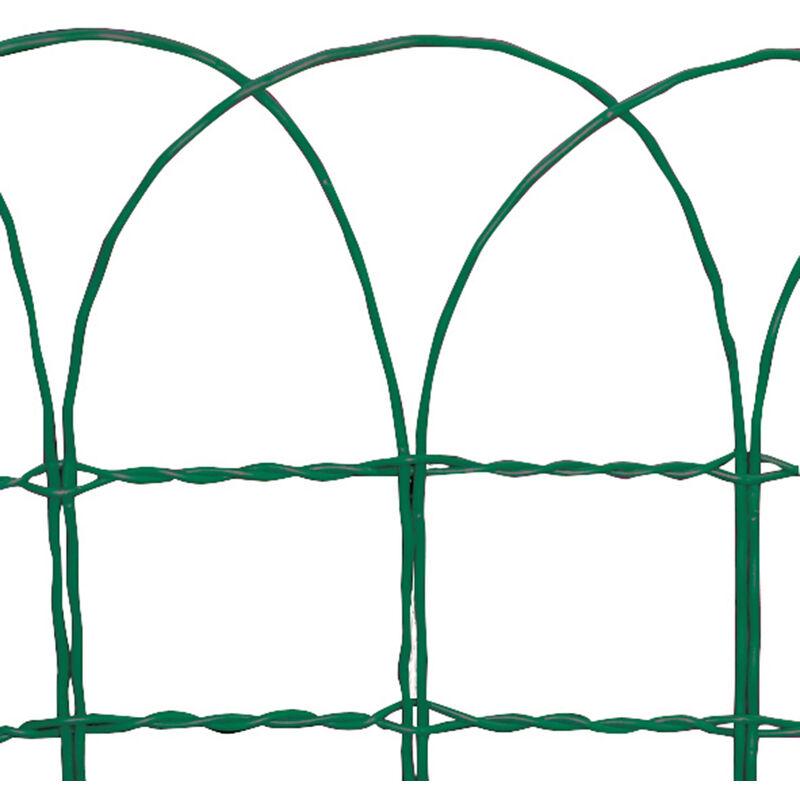 Delimitazione in ferro zincato ondamet m tenax for Accessori x giardino