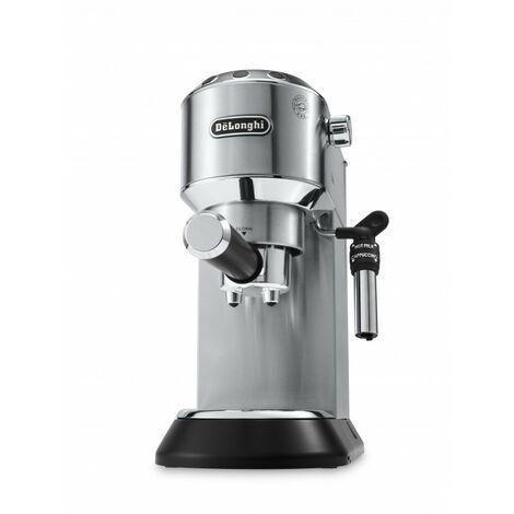 De'Longhi Cafetera Expreso Dedica EC685.M. Molido Y Monodosis. Espresso Y Cappuccino. Depósito 1,3 L. Antigoteo. Color Metal