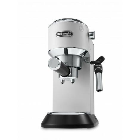 De'Longhi Cafetera Expreso Dedica EC685.W. Molido Y Monodosis. Espresso Y Cappuccino. Depósito 1,3 L. Antigoteo. Color Blanco