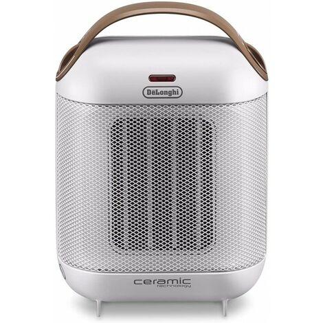 De\'Longhi Calefactor Cerámico HFX30C18.IW. Calefactor Eléctrico Portátil Compacto. 2 Niveles De Potencia. Termostato. 1.800 W