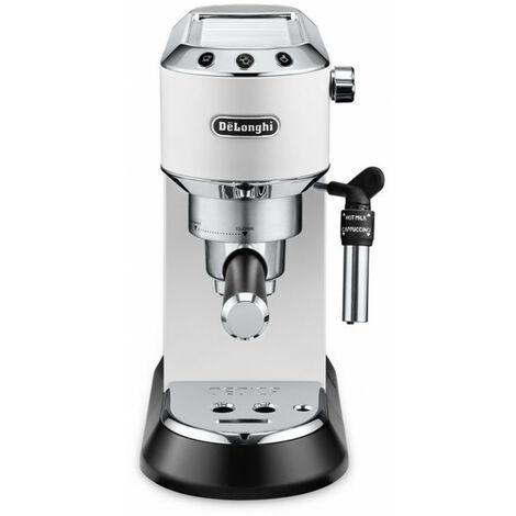 De'Longhi De Longhi Dedica Style EC 685.W - Machine à expresso - 1,1 L - Dosette de café - Café moulu - 1300 W - Noir - Argent - Blanc (EC 685.W)