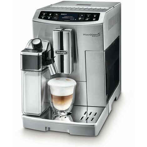 De'Longhi De Longhi PRIMADONNA S EVO ECAM 510.55.M - Machine à café filtre - Café en grains - Café moulu - Broyeur intégré - 1450 W - Argent (ECAM 510.55.M)
