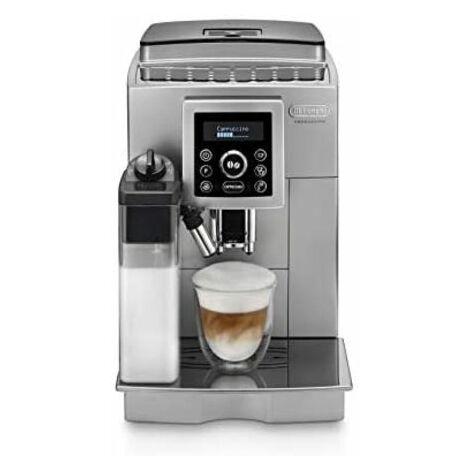 De'longhi ECAM 23.460.SB - Machine à café automatique Supe (pression de 15 bars, système de cappuccino automatique, réservoir d'eau amovible de 1,8 L, écran LCD, nettoyage automatique) Argent/Noir