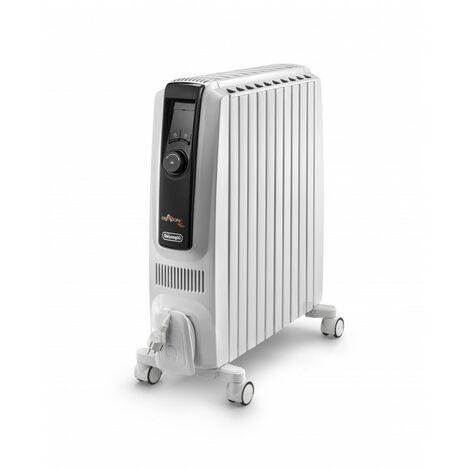 De'Longhi Radiador de Aceite Dragon4 TRDX41025E. Termostato Digital. Pantalla LCD. Alta Eficacia Energética. 2500 W