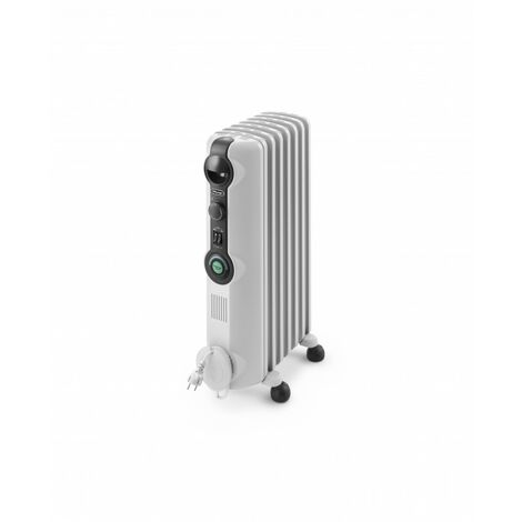 De'Longhi Radiador De Aceite Radia S TRRS0715C. Calefactor Eléctrico Portátil Silencioso. Ruedas Plegables. 1.500 W