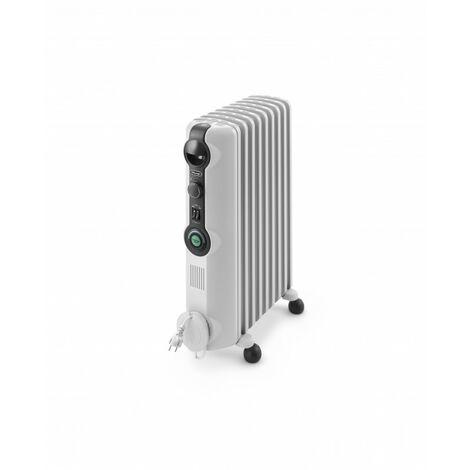 De'Longhi Radiador De Aceite Radia S TRRS0920C. Calefactor Eléctrico Portátil Silencioso. Ruedas Plegables. 2.000 W