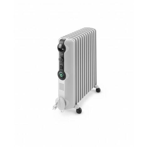 De'Longhi Radiador De Aceite Radia S TRRS1225C. Calefactor Eléctrico Portátil Silencioso. Ruedas Plegables. 2.500 W