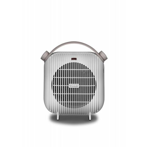 De'Longhi Termoventilador HFS30B24.W. Calefactor Eléctrico Con Termostato. Potencia Ajustable. Protección Antigoteo. 2400 W