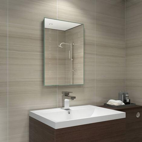 Delta 700 x 500 mm batteriebetriebener LED - Badezimmerspiegel - 190 ...