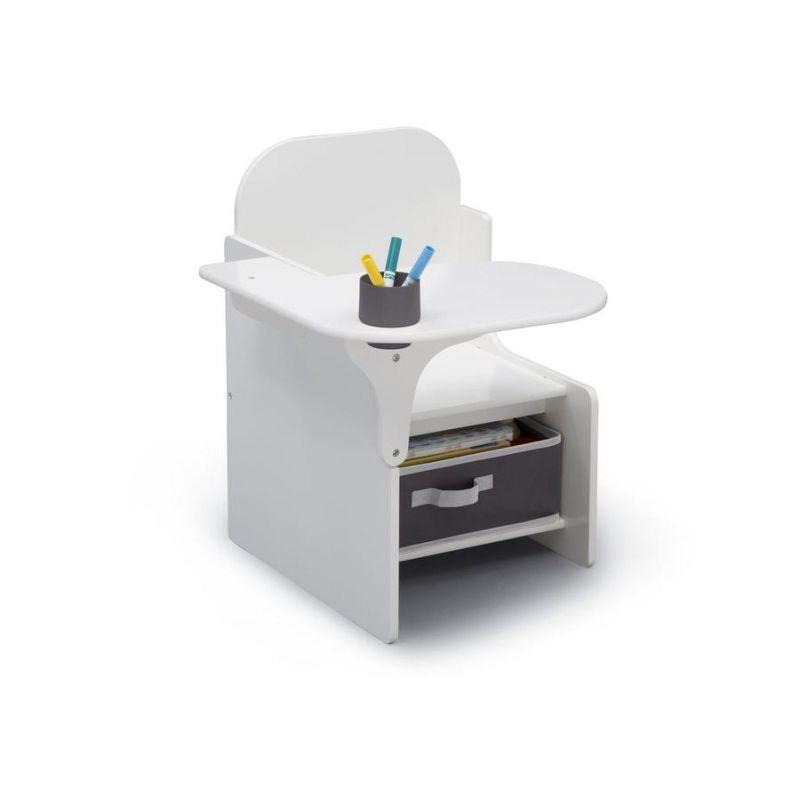 Petit Poucet - Chaise blanche avec bureau et rangement intégré Signature Delta Children