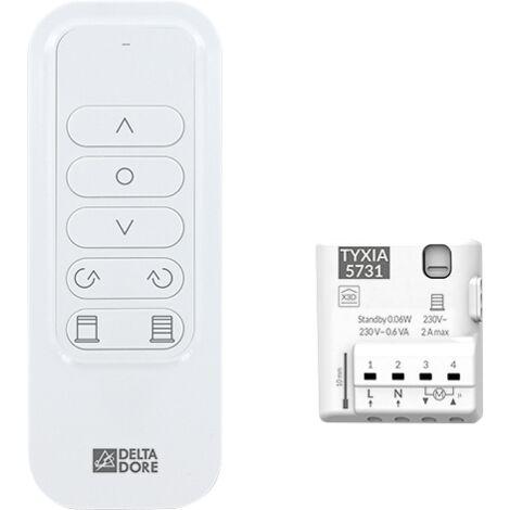 Delta Dore Récepteur et télécommande pour gestion d'un brise soleil orientable/store venitien. 6351415