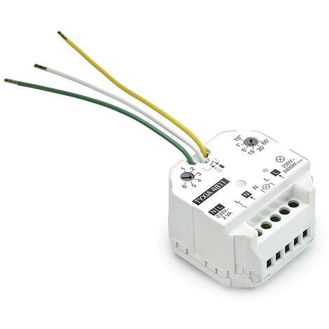Delta Dore - Récepteur marche/arrêt avec minuterie pour éclairage ou ventilation - Tyxia 4811 - Blanc