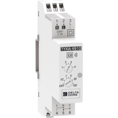 Delta Dore Récepteur modulaire pour le contrôle groupé d'éclairage en marche/arrêt. Tyxia 4910.Eclairage connecté - 6351386