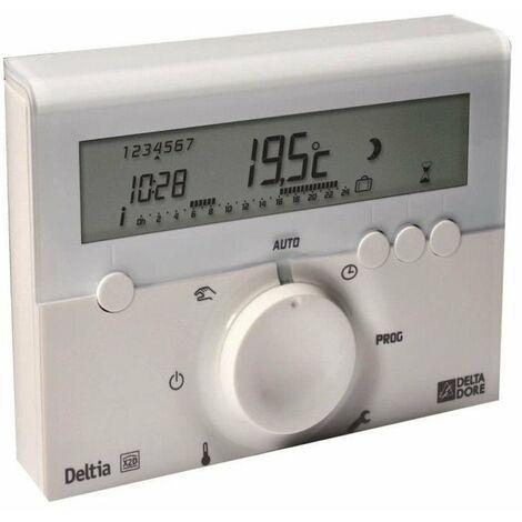 DELTA DORE Thermostat d'ambiance Deltia 8.00 programmable électronique filaire