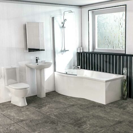 Delta Left Hand Shower Bath Suite