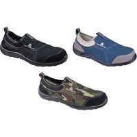Delta Plus MIAMI Canvas Slip On Safety Trainer Shoes Black - Size 11